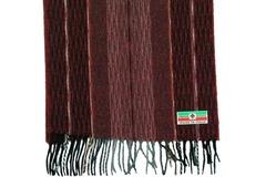 Шерстяной шарф, мужской бордовый 30691