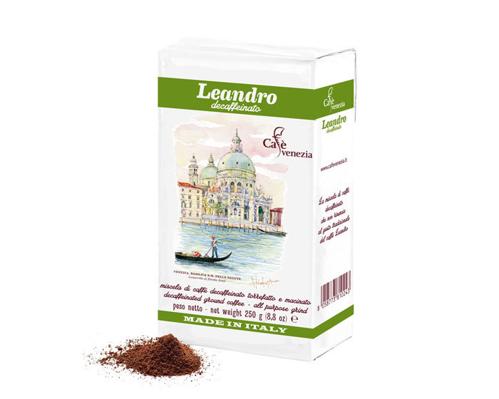 купить кофе молотый Cafe Venezia Leandro Decaffeinato, 250 г