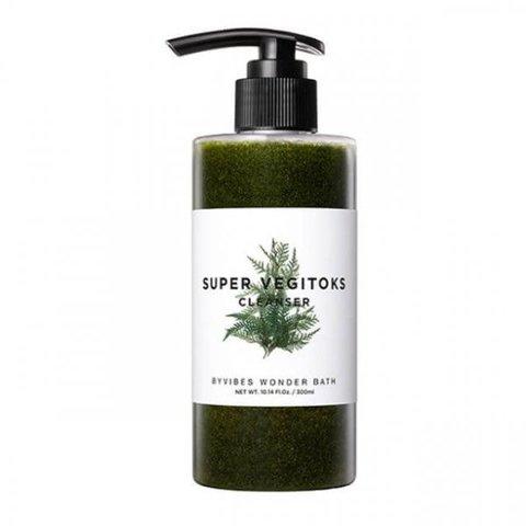 Увлажняющий Детокс-Гель Для Умывания WONDER BATH Super Vegitoks Cleanser Green