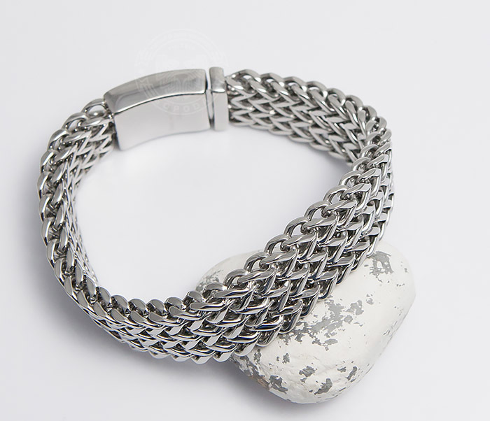 BM468-1 Оригинальный мужской браслет из стали на застежке (22 см)