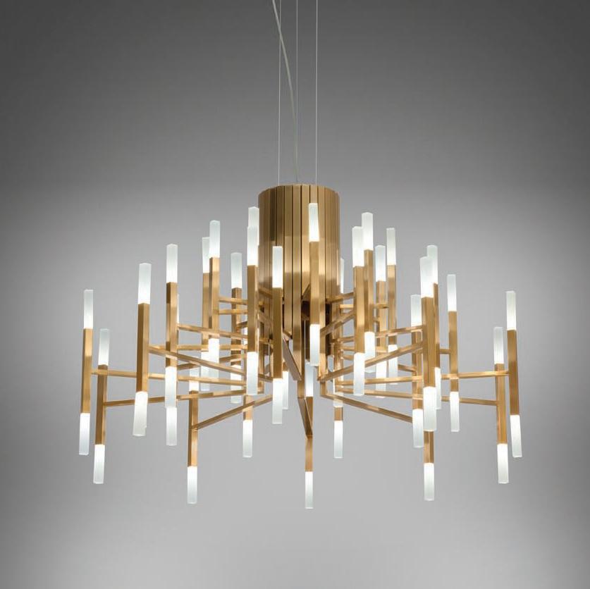 Подвесной светильник копия THE LIGHT by Alma 30 плафонов (золотой)