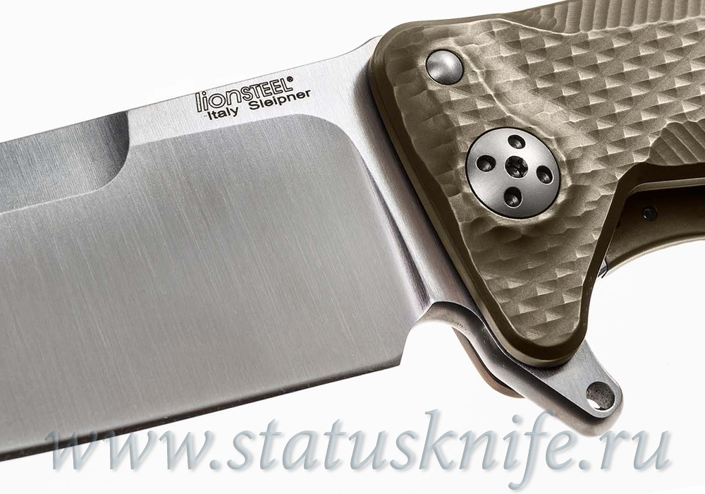 Нож Lion Steel SR11 Titanium Brown - фотография