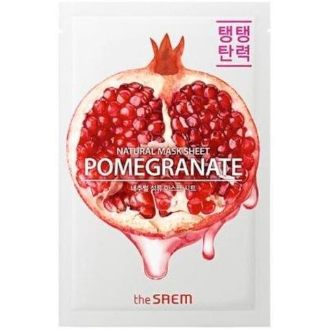 Маска для лица с экстрактом граната тканевая The Saem Natural Pomegranate Mask Sheet