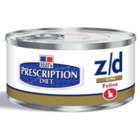 5661YZ ХИЛЛc ДИЕТА кон.д/кошек Z/D лечение острых пищевых аллергий 156гр*24