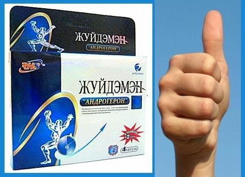 Препарат для мужчин Жуйдэмэн Андрогерон, 1 капсула.