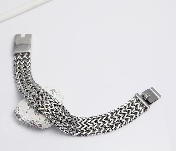 BM468-1 Оригинальный мужской браслет из стали на застежке (22 см) фото 02