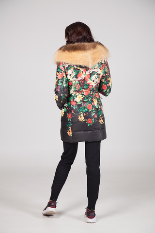 Куртка из плащевки женская на меху оптом
