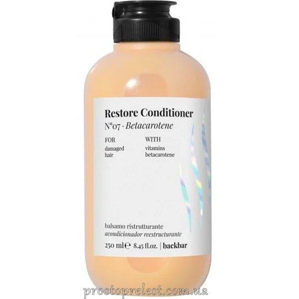 Farmavita Back Bar Restore Betacarotene Conditioner №7 - Кондиционер для поврежденных волос 250