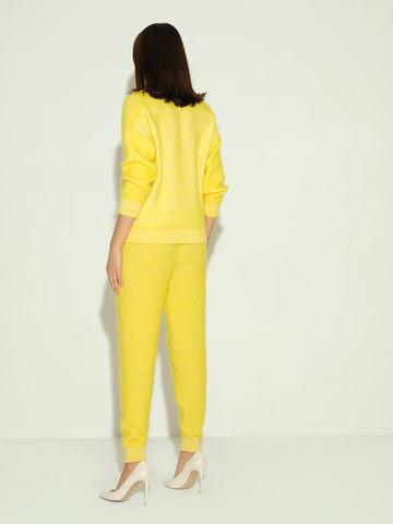 Женские брюки желтого цвета из мохера и кашемира - фото 4
