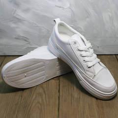 Белые кроссовки кеды женские El Passo 820 All White.
