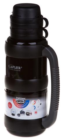 Термос LaPlaya Traditional 35-100 (1 литр) со стеклянной колбой, черный