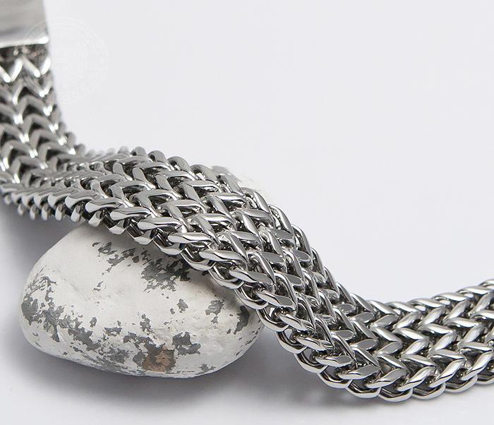 BM468-1 Оригинальный мужской браслет из стали на застежке (22 см) фото 03