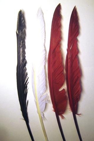 Уценка. Категория 1.Перья гуся декоративные 30-37 см. (цена за 1 шт.)