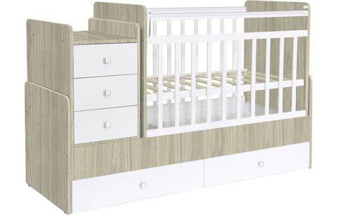 Кроватка детская Фея 1100 вяз-белый