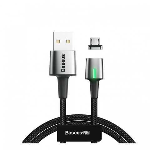 USB кабель Baseus Zinc Magnetic 2A Micro USB 1M /black/
