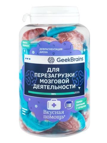 Вкусная помощь Конфеты Для перезагрузки мозговой деятельности 250 мл GeekBrains