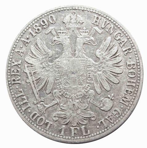 1 флорин 1890 год, Австрия. VF+