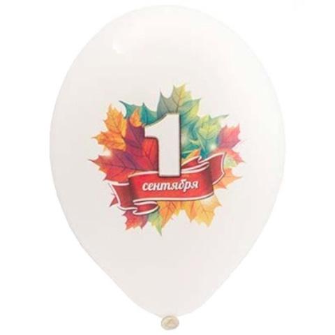 Воздушные шары с рисунком 1 сентября