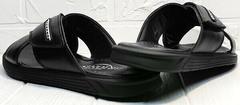 Кожаные мужские шлепки сандалии с открытой пяткой Brionis 155LB-7286 Leather Black.