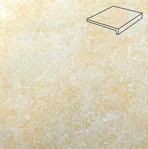 Stroeher - Keraplatte Roccia 833 corda 294x175x52x10 артикул 4817 - Клинкерная ступень, прямой угол