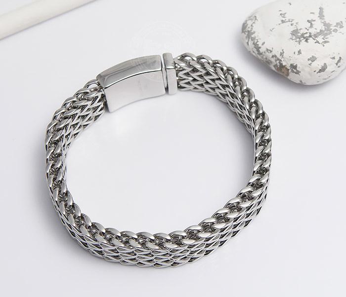 BM468-1 Оригинальный мужской браслет из стали на застежке (22 см) фото 04