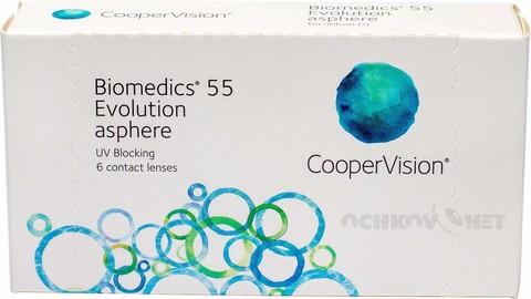 Biomedics 55 Evolution UV 6 линз BC 8.6