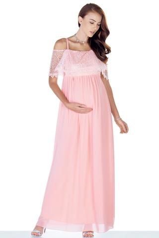 Платье для беременных 09449 розовый