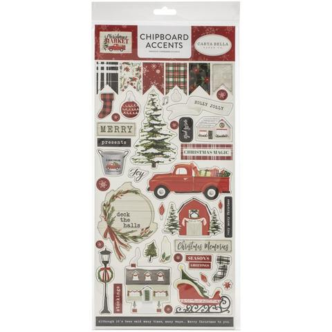 Чипборд Christmas Market Chipboard -Accents -15х30см