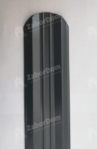 М-образный штакетник металлический 95 мм RAL 7024 0.5 мм