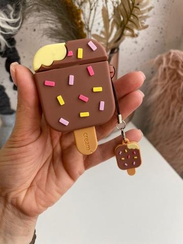 Чехол для AirPods toys /ice cream brown/