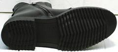 Ботинки кожаные женские демисезон Tina Shoes 292-01 Black.