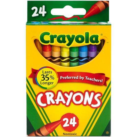 Восковые карандаши  Crayola Crayons 24шт.