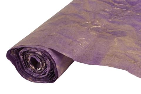 Бумага жатая эколюкс 70см х 5м фиолетовая/золото 14G