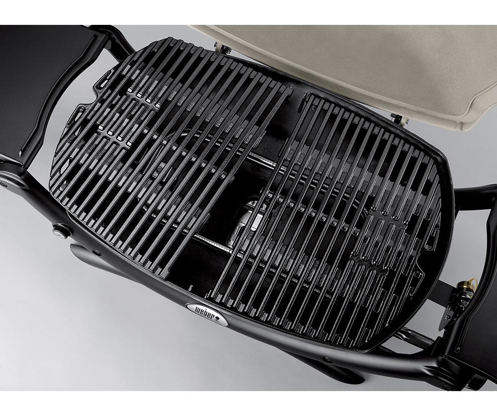 Гриль газовый Weber Q 1200 Black Line, черный на тележке