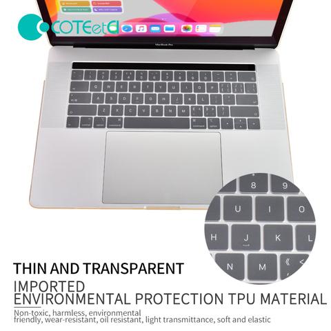 Защитная накладка COTEetCI MB1014 Keyboard skin TPU ultra slim для MacBook New Pro 13