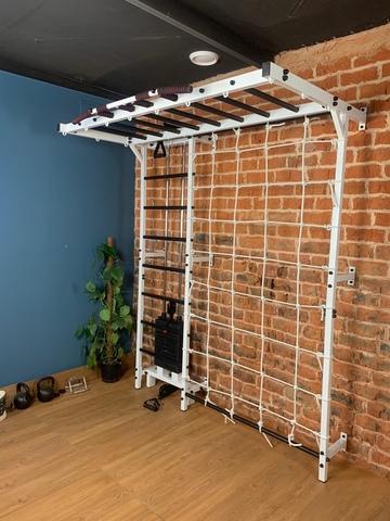 Усиленная шведская стенка с рукоходом и блочным тренажером №9