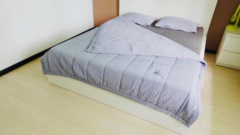 Комплект постельного белья GOCHU Solido set Q серый 2003