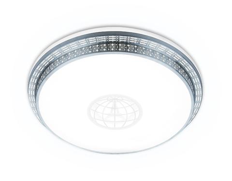 Потолочный светодиодный светильник с пультом F128 WH SL 72W 500*500*60 (ПДУ ИК)