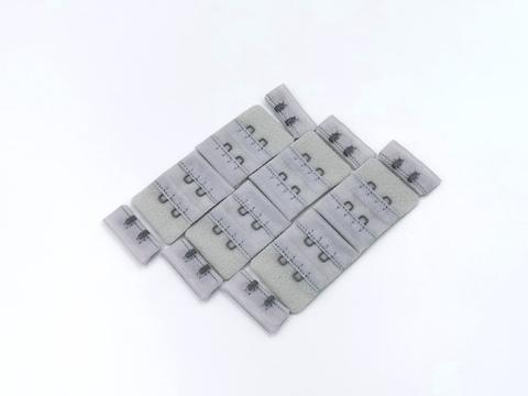 Застежки, ОПТ, 2х2, серебро, (Арт: Z2-166), 50 шт