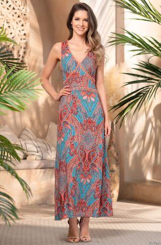Длинное платье из вискозы Mia Amore