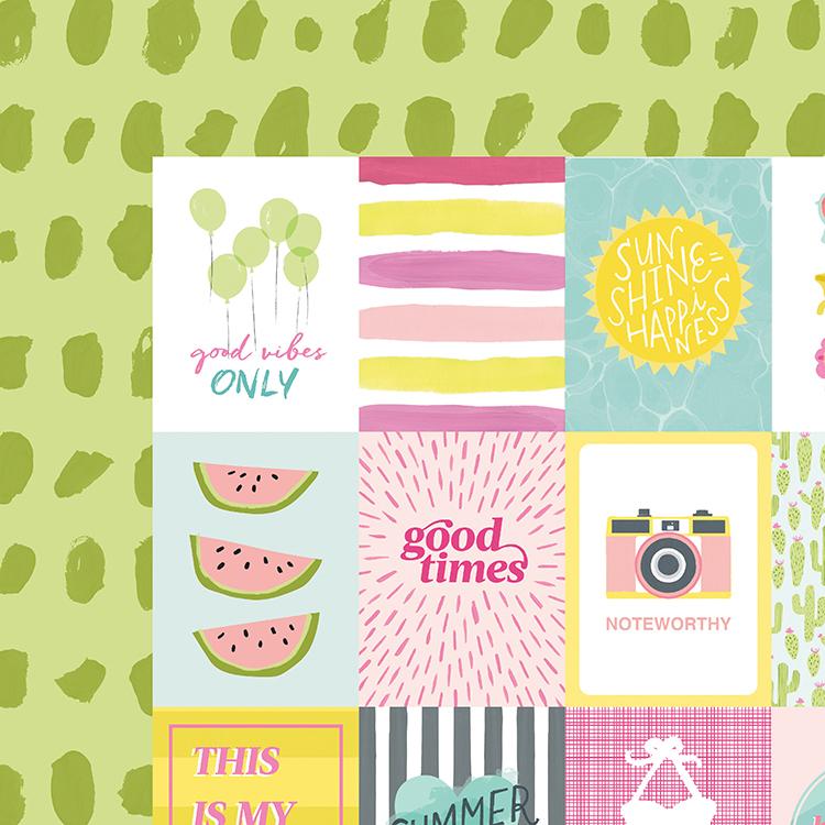 Лист с журнальными карточками Dear Lizzy Happy Place 30х30см