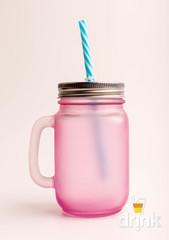 Матовая баночка для смузи - Розовая, фото 4