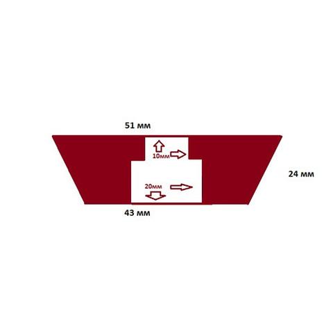 Пробка силиконовая №9,5 51х43/24 с каналом