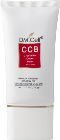 Завершающий солнцезащитный крем для лица с тонирующим эффектом DM.Cell CCB Cream Crystallite Cover Balm ССВ крем 50 мл