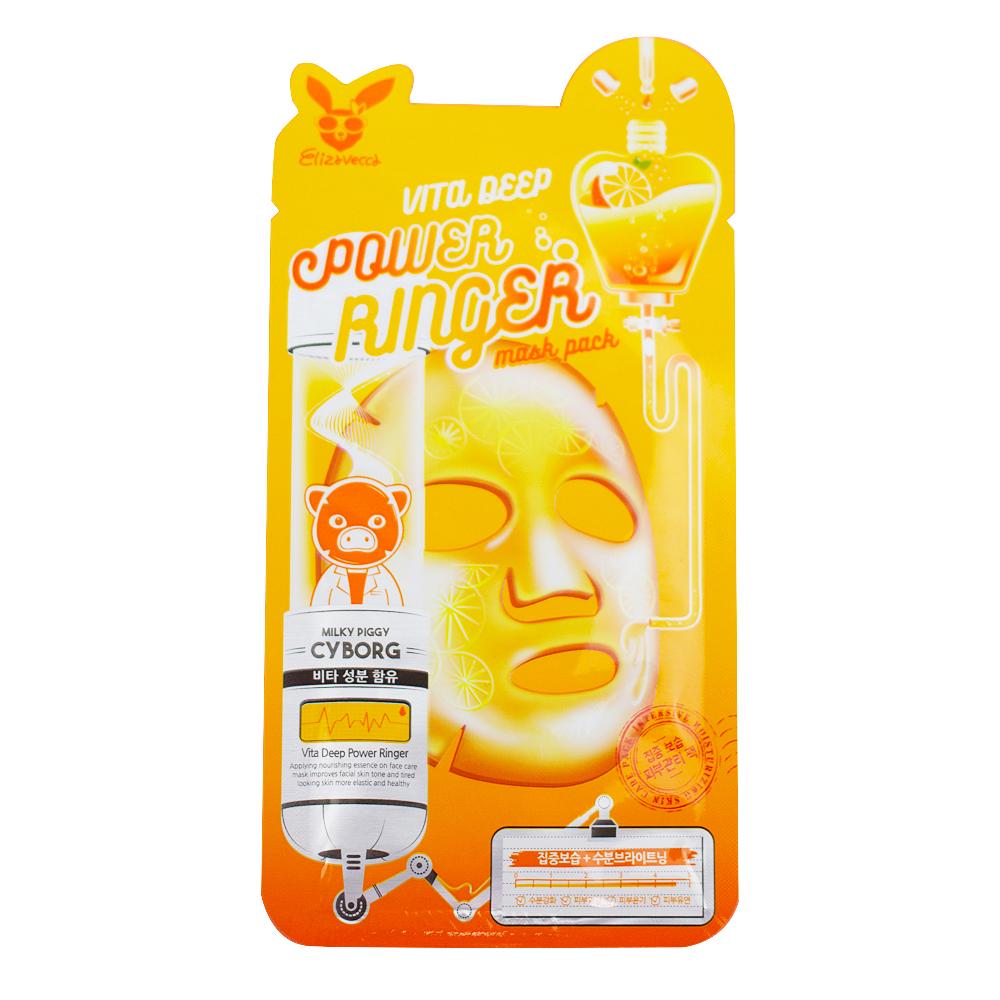 Тканевые Маска тканевая для лица  витаминная ELIZAVECCA  VITA DEEP POWER RING MASK PACK 23 мл Elizavecca-Vita-Deep-Power-Ringer-Mask-Pack.jpg