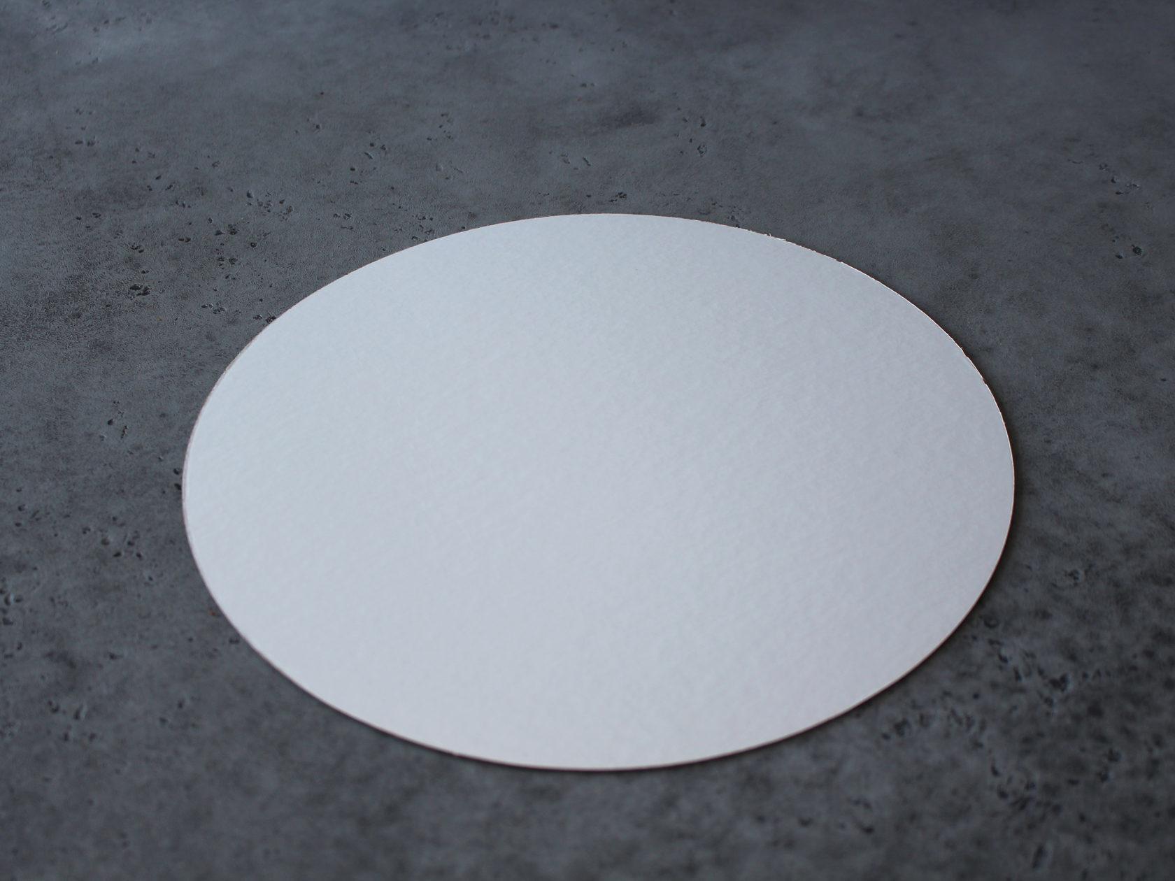 Подложка белая/золотая 23 см, 3,2 мм