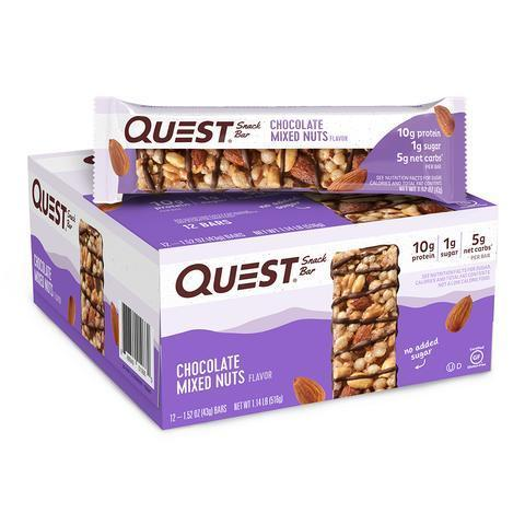 Батончики Quest Snack Bar ШОКОЛАДНАЯ СМЕСЬ ОРЕХОВ  (12 шт)