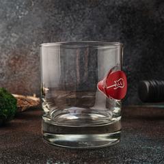Стакан для виски «Медиатор» красный, крафт  300 мл, фото 2