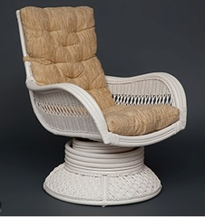 Кресло-качалка Андреа релакс медиум белый (Andrea Relax medium) с подушкой