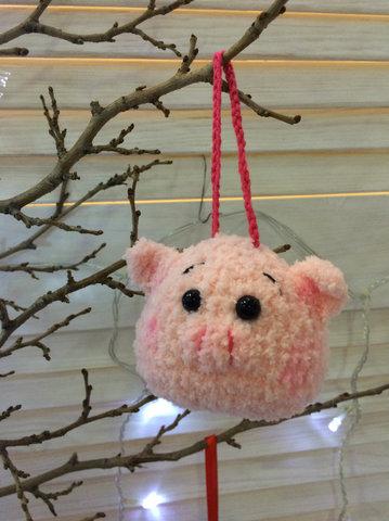 Іграшка свинка на петельці